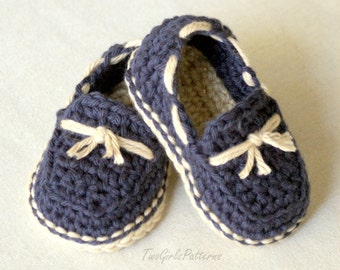 Crochet Pattern - Baby boy - Lil' loafers super pattern pack comes with all 4 variations - pattern number 120 L