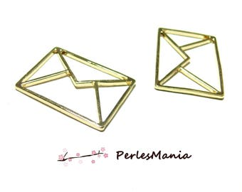 PAX pendants, charm 31mm ORIGAMI envelope 5 Golden S1184238