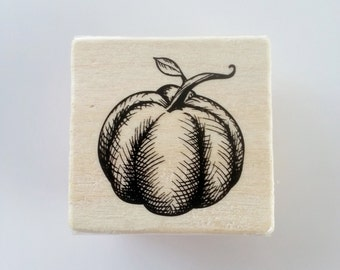 "Block Stamp - ""Pumpkin"""