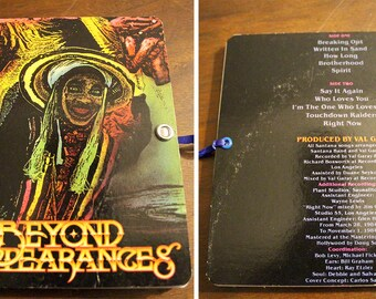 """Santana, """"Beyond Appearances"""", handbound notebook - 4in x 5in, repurposed, creative reuse, rock chick designs, rcd, humboldt made"""