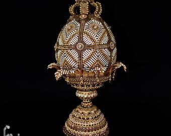 Osrtich Egg in Gold No3