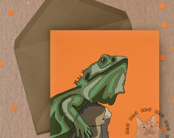 Lizard // Bearded Dragon // Pet Card // Birthday Card // Greetings Card // Blank Cards // Pet Lovers