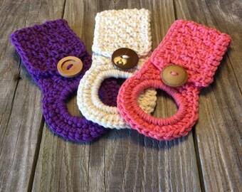 Crochet Towel Holder, Dish Towel Holder, Towel Holder, Hostess gift