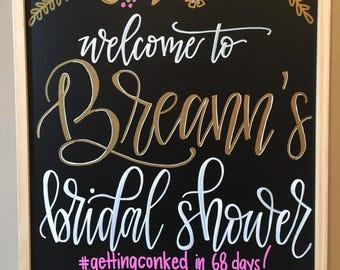 chalkboard sign | baby shower | bridal shower