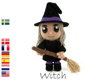 Crochet pattern Witch