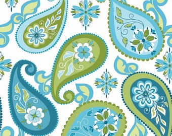 Splendor fabric, Riley Blake Designs, Paisley in Blue (C3911-Blue) -- BY THE YARD