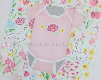 Baby Onesie Quilt Block // FPP Foundational Paper Piece Quilt Pattern // PDF Pattern // Instant Download // Paper Pieced Quilt Block Pattern