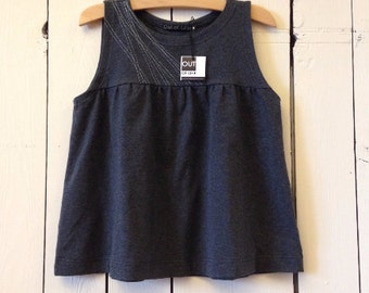 Lines Swing Tank, Women's Top, Cotton Jersey, Modern Style- made to order