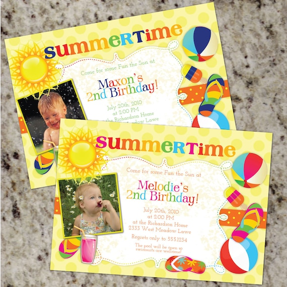 summer themed invitations