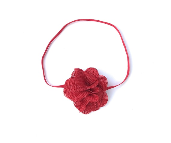 Red Headband, Newborn Headbands, Easter Headband, Flower Headband, Baby Headband Baby, Headbands, Newborn Headband