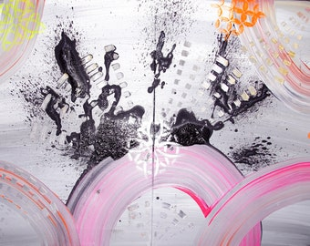 abstract painting diptych modern and contemporary art