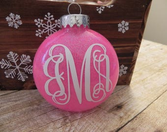 Vine Monogram Ornament. Personalized Ornament. Monogram Ornament. Personalized Christmas Ornament.