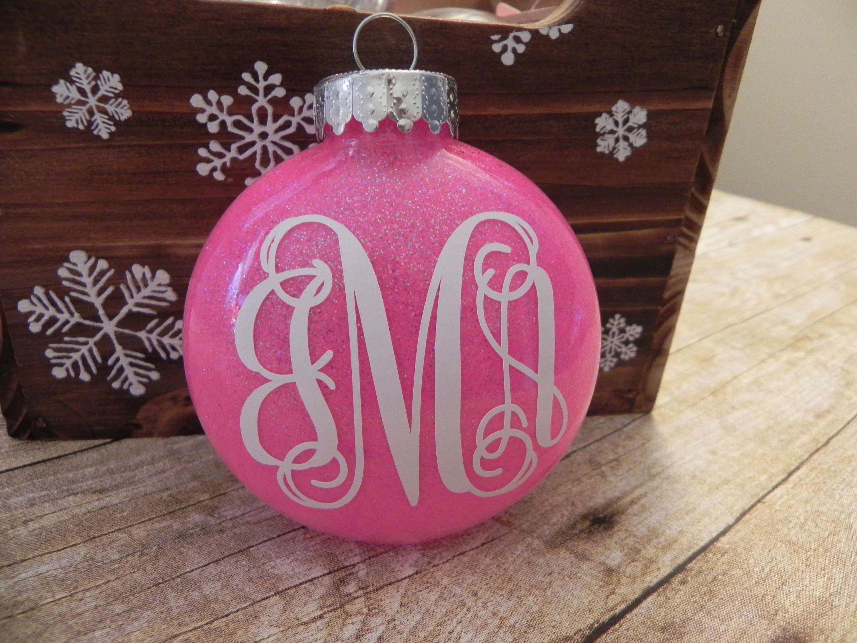 Vine Monogram Ornament. Personalized Ornament. Monogram