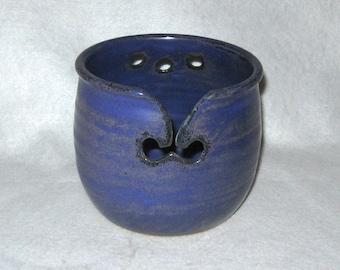 Purple Yarn Bowl, Knitting Bowl, Ceramic Yarn Bowl, Yarn Holder, Yarn Caddy, Stoneware Pottery Yarn Bowl