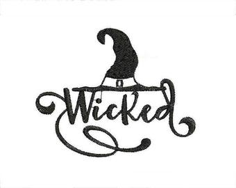 Machine embroidery designs wicked witch hat