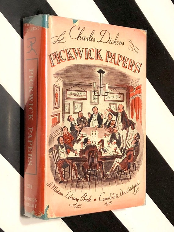 The Pickwick Papers by Charles Dickens (1943) Modern Library hardcover book