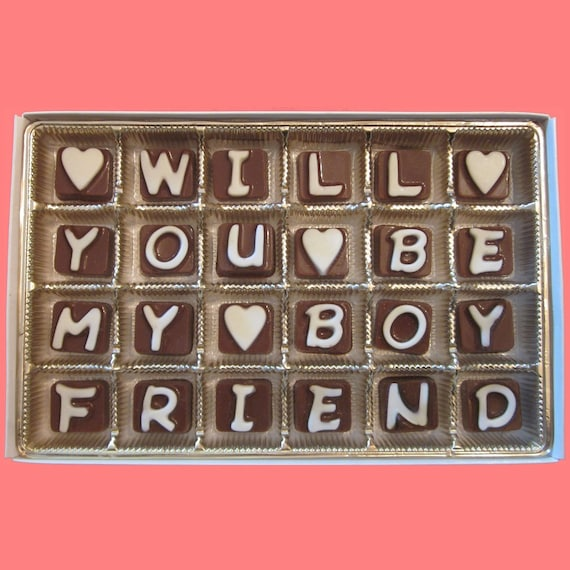 Will You Be My Boyfriend Chocolate Gift For Him Ask Prom With