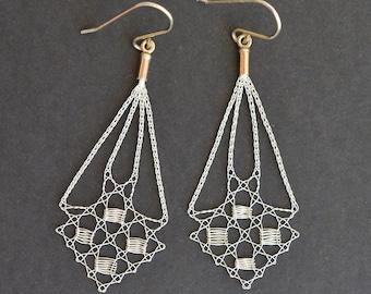 Lace tallies earrings