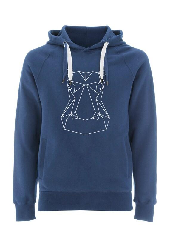 Ninus - Tiger, Hand-printed Organic Cotton Unisex Hoodie