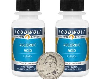 "Ascorbic Acid ""Vitamin C"" / 2 Ounces / Fine Powder / Food Grade / 99.9% Pure / Same Day Shipping"