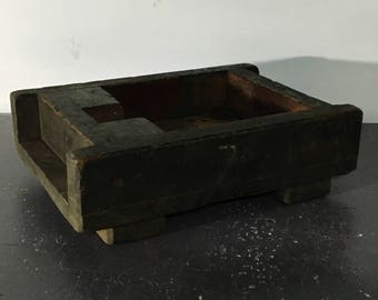Large Antique Wooden Foundry Mold Bin