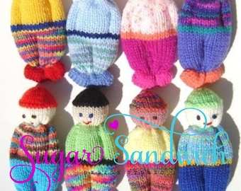 Instant Download Comfort Doll Knitting Pattern Easy to Make 5 Inch knitted Pocket Doll