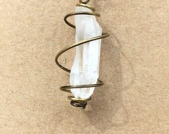 Quartz Gemstone Cage Earring