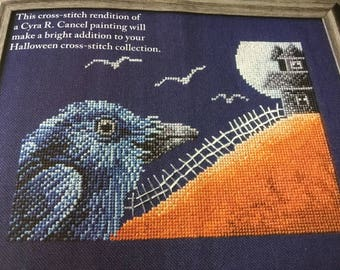 HALLOWEEN RAVEN - Cross Stitch Pattern Only
