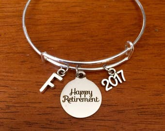 Retirement gifts for women, personalized retirement gifts women, retirement bracelet, retirement gift 2017, retirement jewelry jewellery