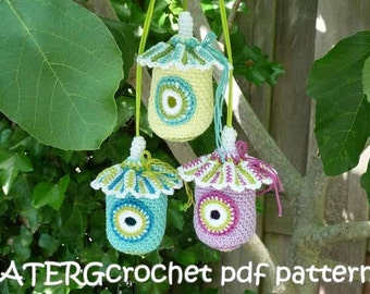 Crochet pdf pattern BIRD HOUSE by ATERGcrochet