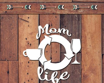 Mom Life Decal | Yeti Decal | Yeti Sticker | Tumbler Decal | Car Decal | Vinyl Decal