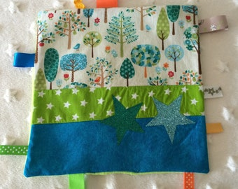 Doudou labels personalized square forest theme