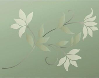 Flower Stencil Wall PA Sweet Magnolia Furniture Floor