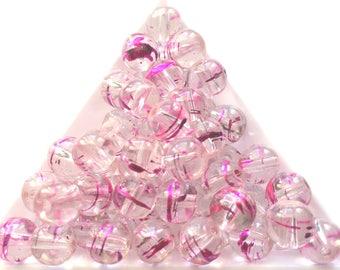 lovely bead sparkling Crystal fuchsia color