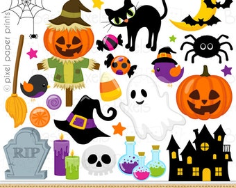 halloween clip art clipart for personal and commercial use - Halloween Prints