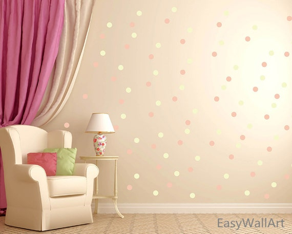 Blended Polka Dot Wall Decals by HappyWallzArt