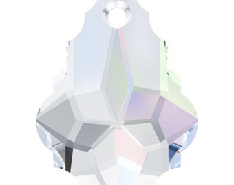 Swarovski Crystal Baroque Pendant Beads 6090 - 22.0x15.0 - Crystal Clear AB