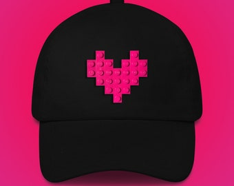 Black hat with pink LEGO® heart