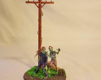 Zombie Apocalypse miniature diorama #1