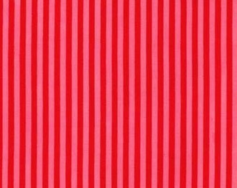 Michael Miller - Little Stripe - Lipstick - CX6574-LIPS-D - 100% cotton fabric - Fabric by the yard(s)