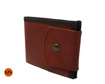 Basic, Handmade Personalized, Minimalist Wallet, Brown, Vegan Friendly, Vegan Leather Wallet, Mens Leather Wallet, Mens Wallet, UNUSUAL