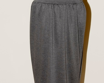 Grey Ponte Stretch Knit Skirt size 12-14, casual wear, office