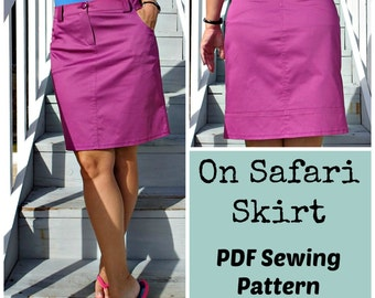 On Safari Skirt  - PDF Sewing  pattern