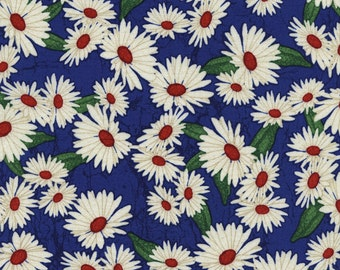 Daisies Fabric - 1 Yard Cut - Timeless Treasures - Cotton Fabric - Quilting Fabric