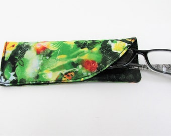 Garden Green Glass Case, Regular Glasses Case, Case for Glasses, Glasses Case, Soft Glasses Case, Small Case, Glasses Holder