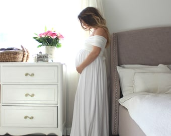 Maternity gown photography baby shower maternity dress- the wrap babydoll