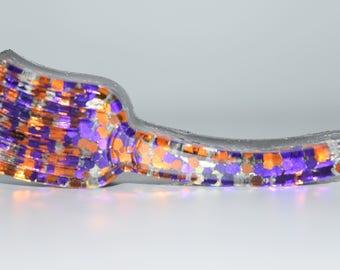 Orgone Energy Mini Witch Broom-Quartz Crystal, Pyrite, Blue Kyanite- Halloween Decor