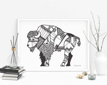 Tribal Buffalo Design