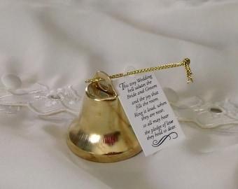 Kissing Bells Gold Wedding favors set of 24 reception accessories bride groom make your own DIY supplies crafts spring shower summer