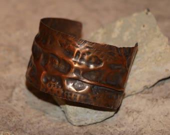 Forged Copper Cuff Jewelry